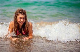 я летом на море