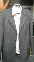 Школьный пиджак серый, рост 156 см