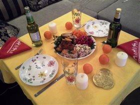 Стол Новогодний, почти похудательный)