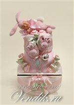 Торт из памперсов 'Заюшкины сны' (Коллекция VIP)