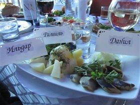 Филе норвежской сельди с картофелем
