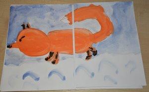 Зимняя лисичка