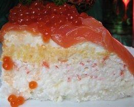 Тортик салатный