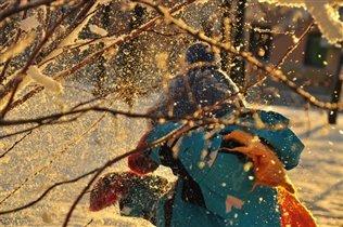 Дернешь за веточку-снег и повалится!