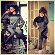 Одежда в стиле Мама + Дочка