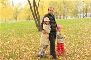 Московская осень .На прогулке с папой