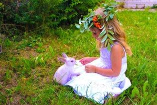 Иринка и кролик