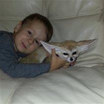 Артем и  лисичка Юся лучшие друзья!