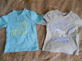 2 новые футболки Mothercare на 18-24 месяца рост92