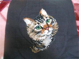 Вышитый кот от Риолис