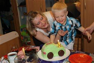 День рождения сынишки, торт своими руками!