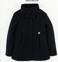 Синее осеннее пальто без утеплителя, на подкладке