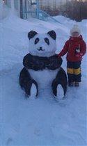 Зимняя панда!