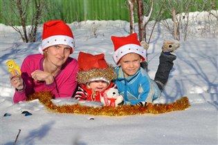 На снежном коврике зимы