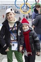 Лева и Арсюшка на Олимпиаде