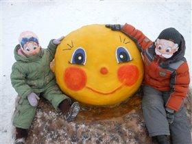 Наша зимняя сказка 'Колобок'.