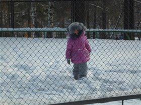 Софья на прогулке в парке!