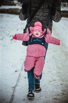 Первая зимняя прогулка!))))