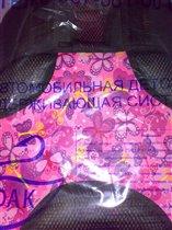 Бескаркасное автокресло Дак-17 Бабочки на розовом