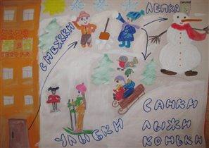 Зимний день моей мечты! (рисунок Саши, 5 лет)