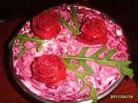 Салат Роза красная