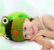 улыбающийся лягушонок