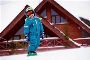 весёлая сноуборд прогулка))