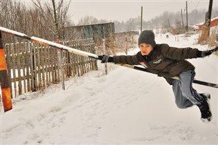 Мы нашли снег!))