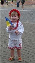 Веселая украиночка!