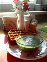 Крем-суп из цветной капусты и шпината