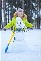 Весенний снеговик!!!