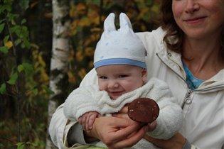 Вместе с мамой в лес пойдем и грибочков наберем!