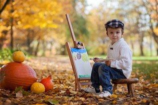 Юный художник и его пейзаж