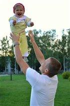 С папой я учусь летать!
