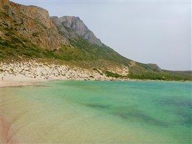 Крит. Бухта Балос с розовым песком