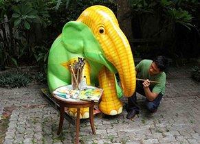 Парад слонов в Бангкоке