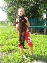 Олеся с другом в деревне