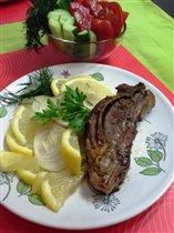 Баранина гриль и овощи
