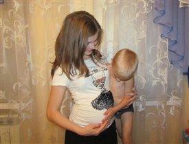 Первые общения с братиком))