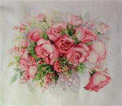 Акварельные розы Риолис