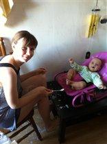 Я и мой малыш на кухне