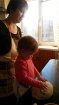 я и малыш на кухне