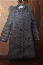 Пальто с поясом фирмы Альпекс холодная осень/зима