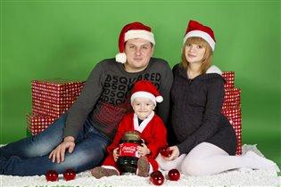 Я, муж и два хлопца!!))