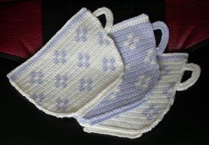 прихватки 'Чайные чашки'
