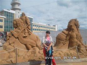 Богатыри из песка.