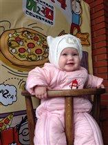 Полинка в пицерии