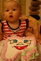 Торт в честь первого зубика)
