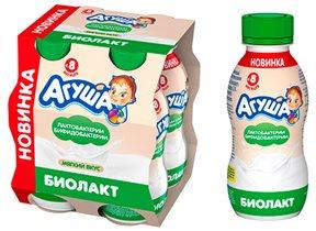 Биолакт от «Агуши» - двойная польза, мягкий вкус!