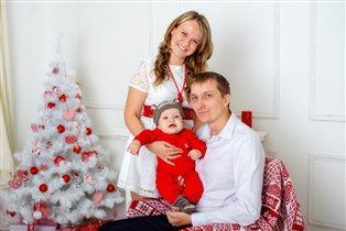 Первый Новый год Алёнки :)